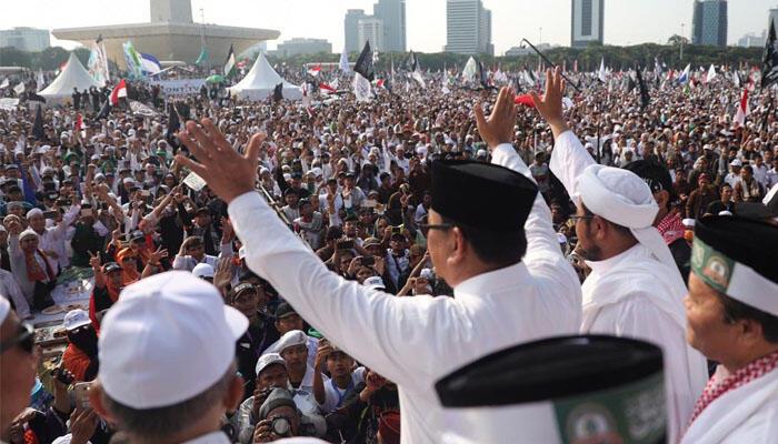 Di Depan Jutaan Peserta Reuni 212, Prabowo: Saya Tidak Boleh Kampanye