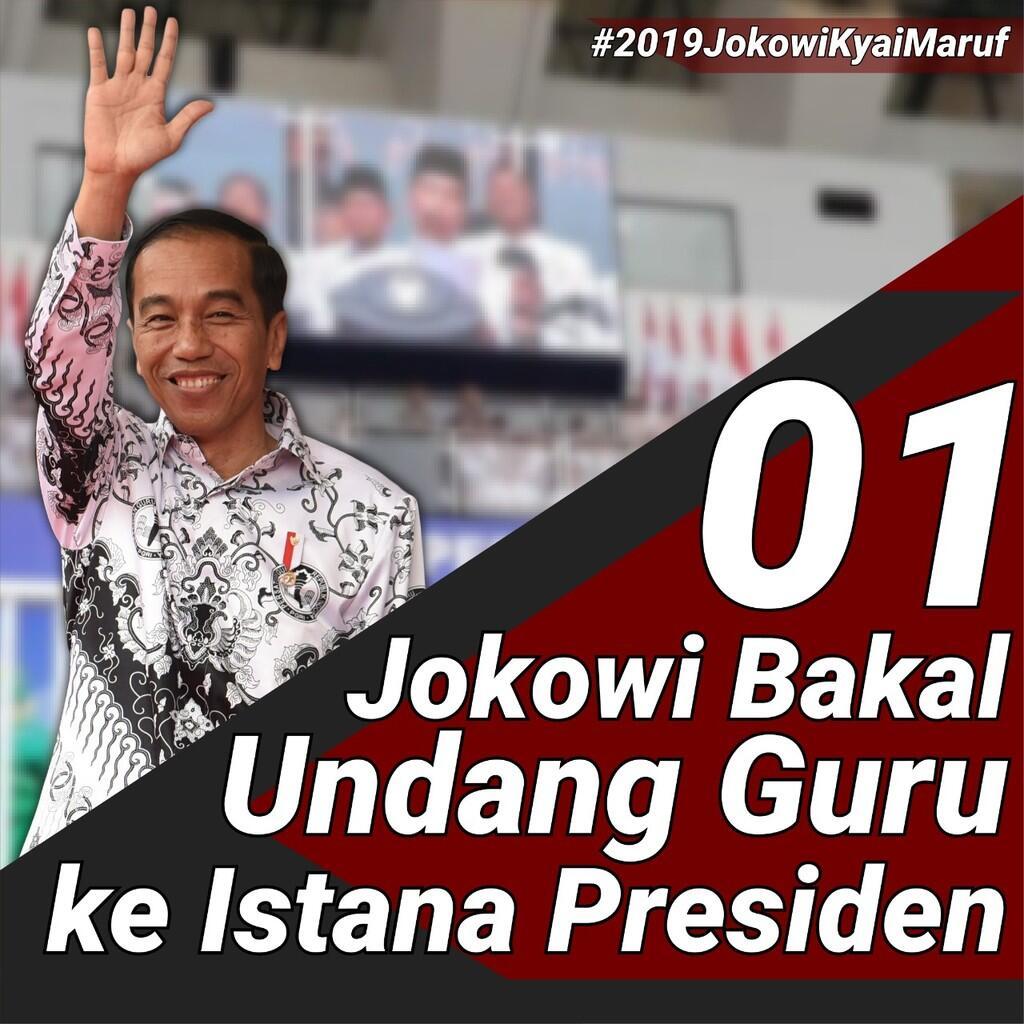 Jokowi Bakal Undang Guru ke Istana Presiden