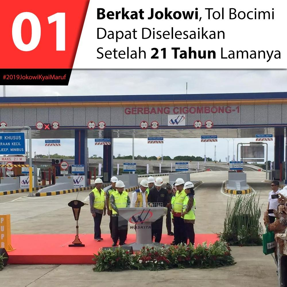 Bergaya Kasual, Jokowi Meresmikan Pengoperasian Ruas Tol Ciawi-Sukabumi Seksi I
