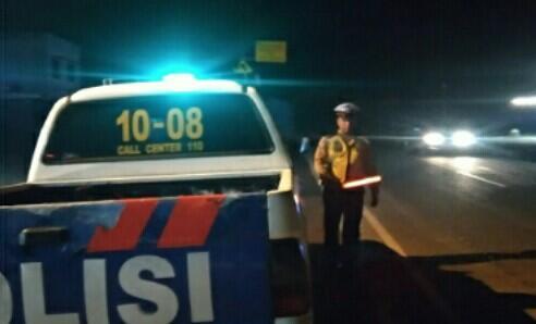 Blue Light Patrol, Sat Lantas Polres Banyuasin Pantau Arus Lalin
