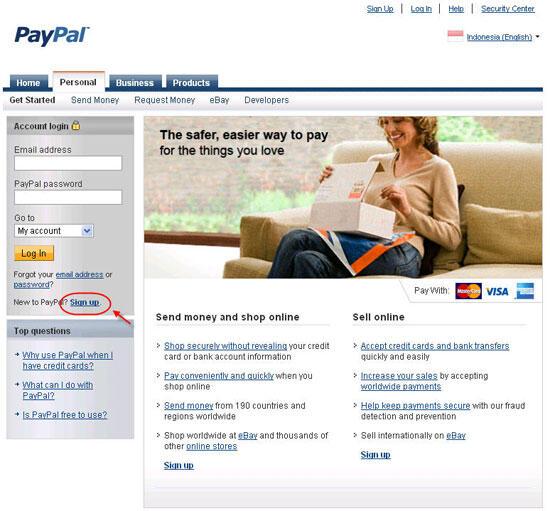 Membuat Akun PayPal