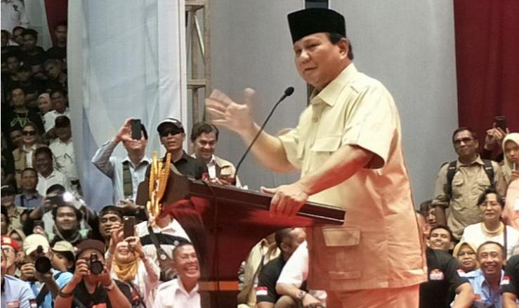 Pidato Lengkap Prabowo di Depan Peserta Reuni Akbar 212
