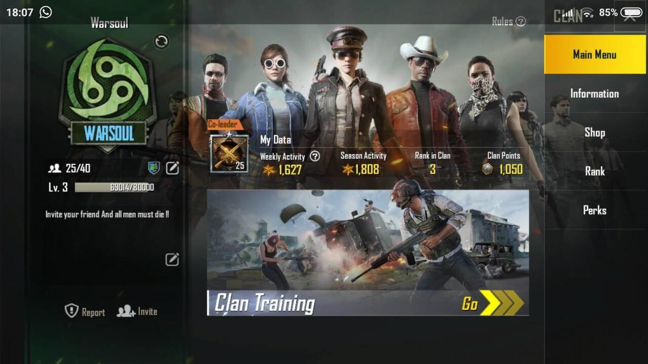 Open recruitment Clan LVL 3 PUBGM, BNTR LAGI OTW LVL 4