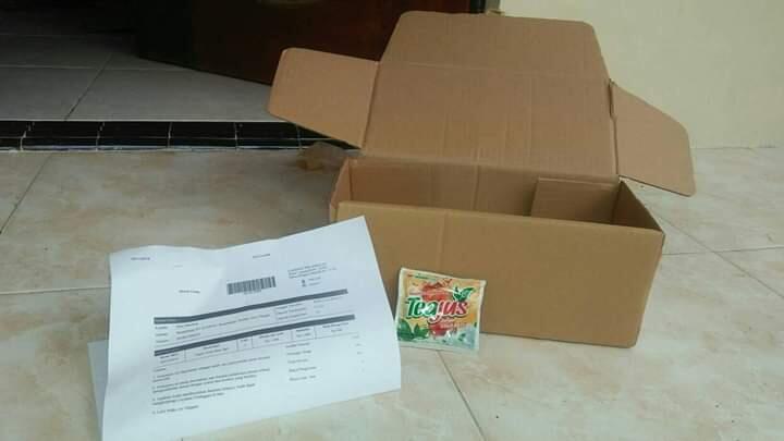 Pesen Teajus 1 Sachet Rp 400,- di JD ID gratis ongkir dikirim ke brebes COD