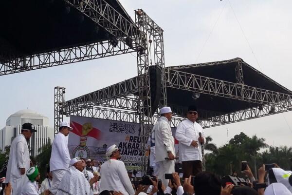 Prabowo di Panggung Reuni 212: Saya Tidak Boleh Kampanye
