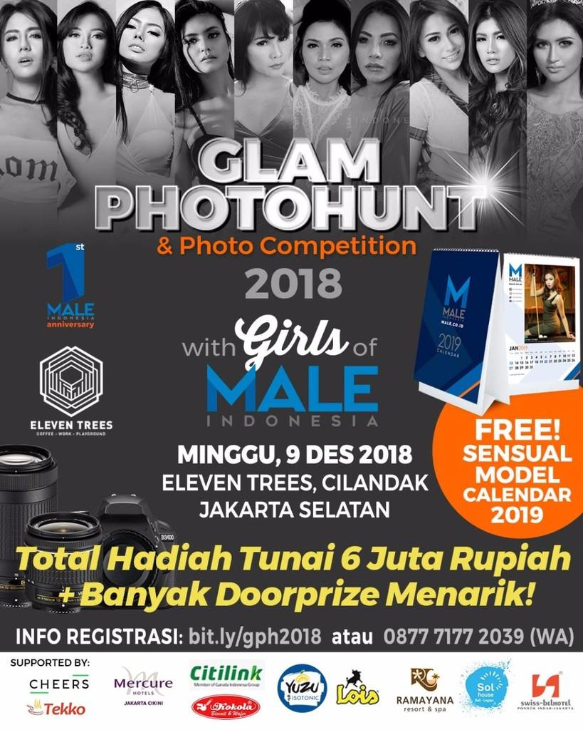 Glam Photohunt with 10 Model dalam rangka 1st Anniversary Male Indonesia