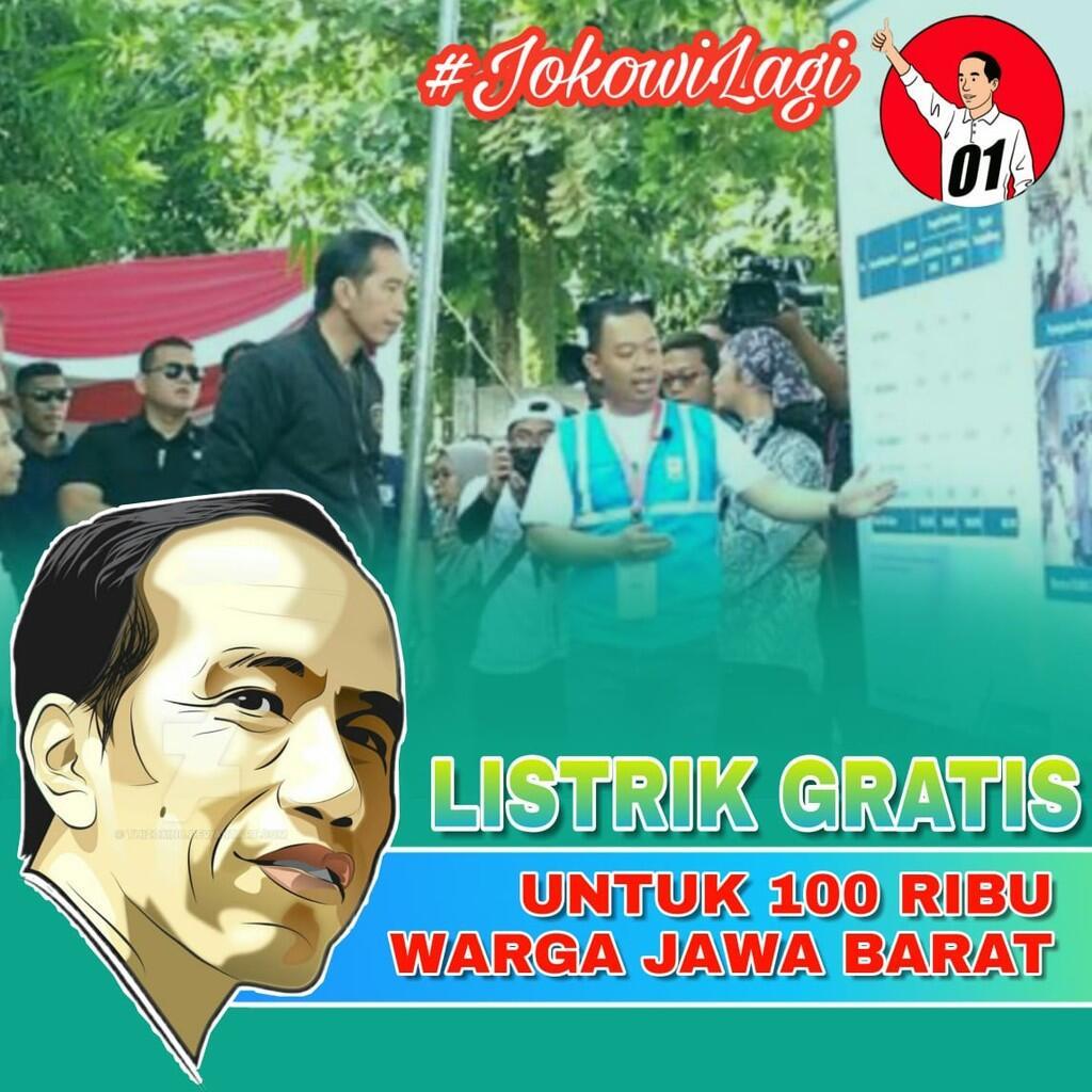 Pemerintahan Jokowi Beri Sambungan Listrik Gratis ke 100 Ribu Rumah Tangga di Jabar