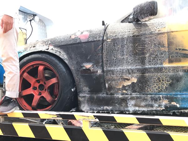 Mobil Balap M Fadli di ISSOM Kebakaran, Begini Penampakan Mobilnya