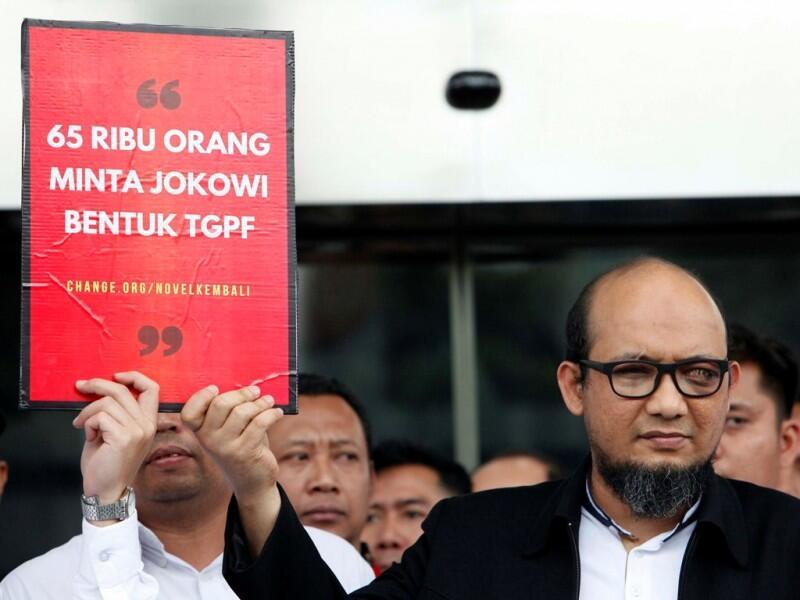 Jokowi Dituntut Segera Ungkap Kasus Novel Baswedan