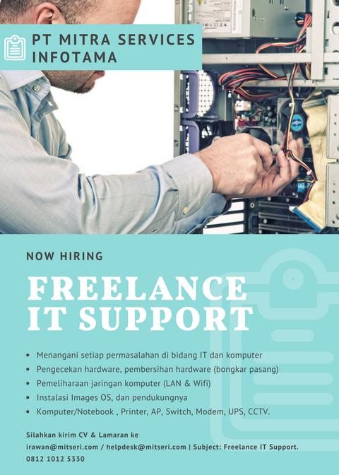 [[HIRING]] Lowongan Kerja - IT Support Freelance Seluruh Indonesai