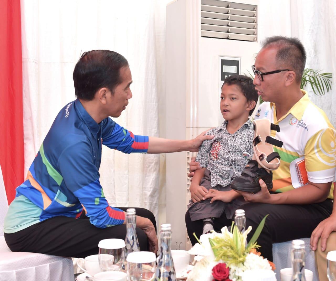 Presiden Jokowi Dorong Kaum Disabilitas untuk Selalu Percaya Diri