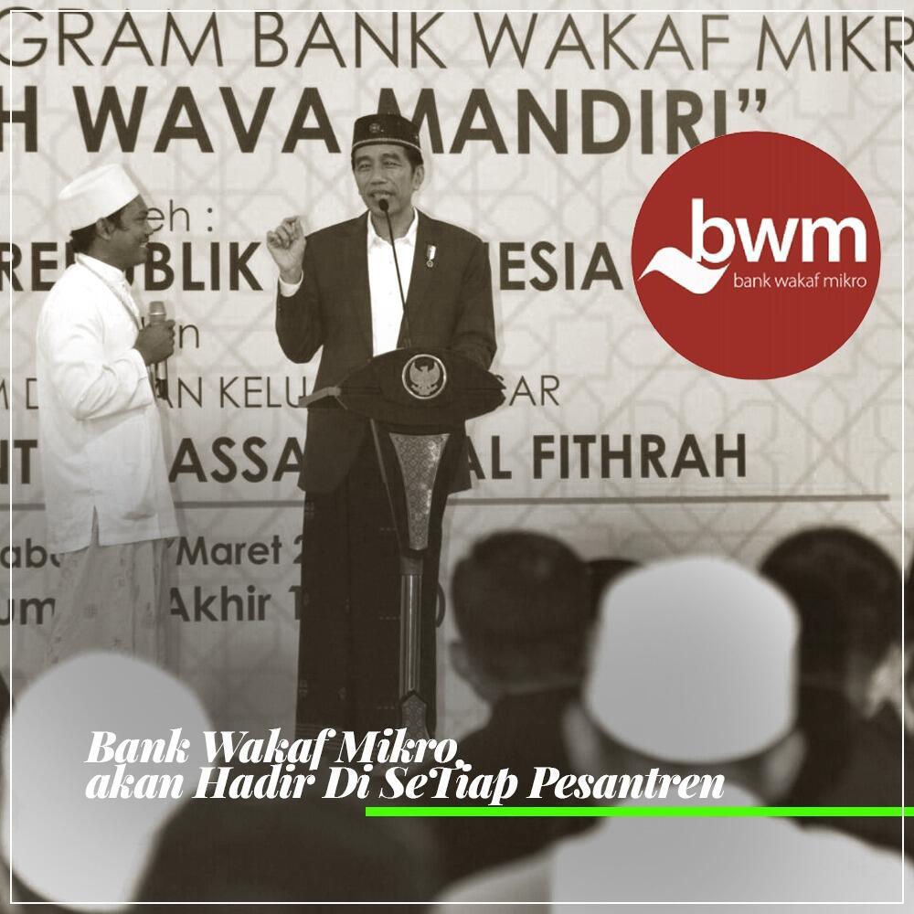 Jokowi Klaim Sudah Dirikan Bank Wakaf Mikro di 33 Pesantren