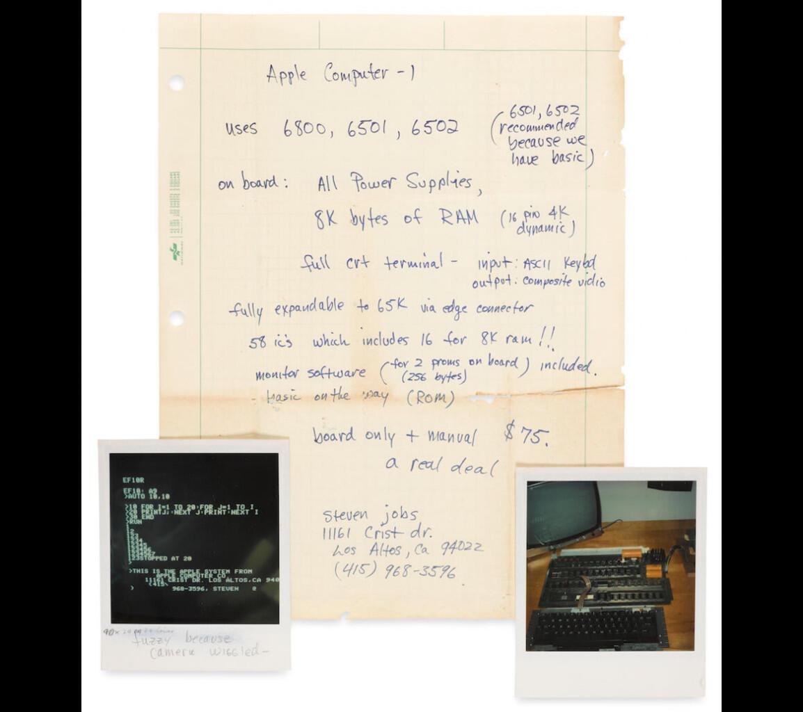 Tulisan Tangan Steve Jobs Laku 3,8 Milyar