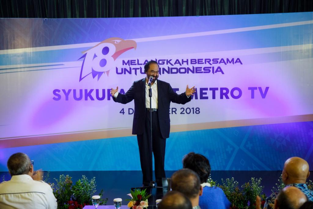 Surya Paloh: Metro TV Semangat Indonesia