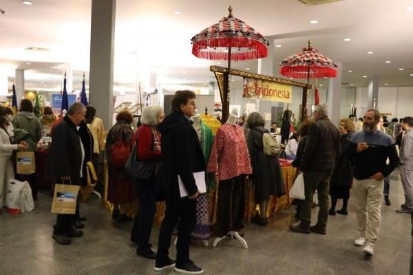 Bazar Diplomatik, Booth Indonesia Menarik Perhatian Presiden Portugal