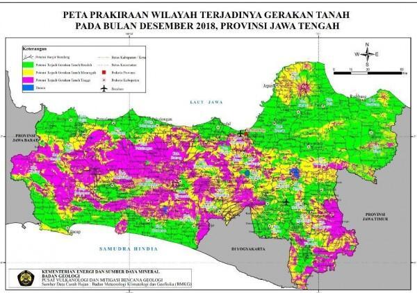 Hujan Deras dan Angin Kencang Picu Banjir di Semarang