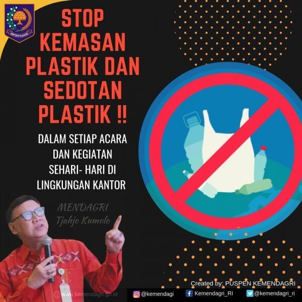 Tjahjo Larang Pegawai Kemendagri Gunakan Plastik Sekali Pakai