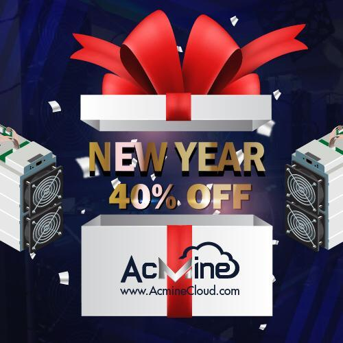 HAPPY NEW YEAR DISCOUNT OFFER 40% OFF ON ALL ACMINECLOUD MINING PACKAGES