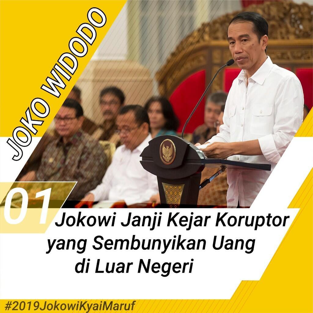Jokowi Janji Kejar Koruptor yang Sembunyikan Uang di Luar Negeri