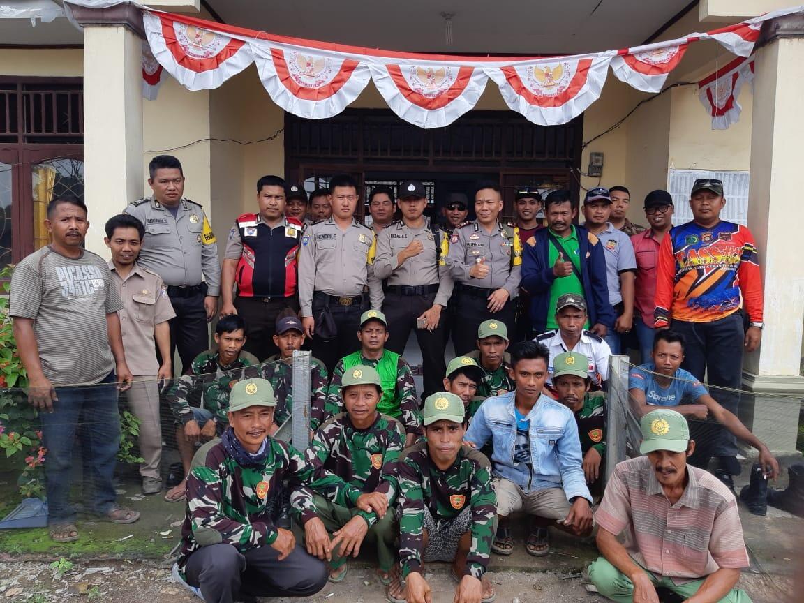 Sukseskan Pemilu, Kapolsek Muara Padang Sambangi Masyarakat Desa Sidomulyo