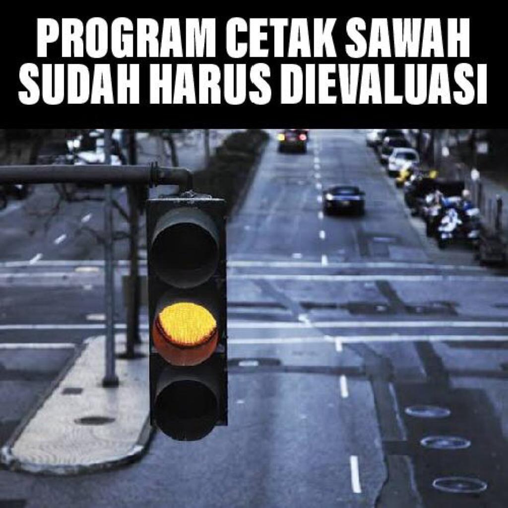 Lampu Kuning Program Cetak Sawah