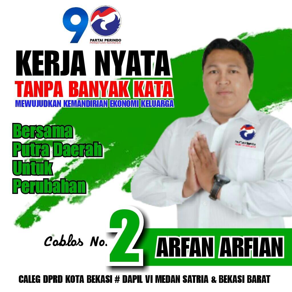 #2019 Pilih Caleg Muda Nomor DUA Dari Partai Perindo untuk Dapil 6 Medan Satria Barat