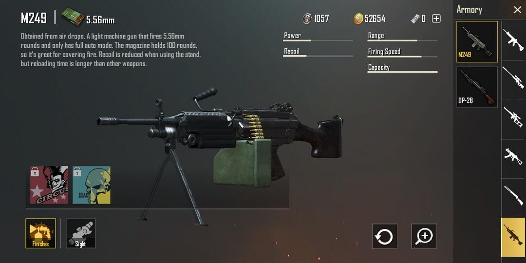 Senjata Tidak Berguna di PUBG M
