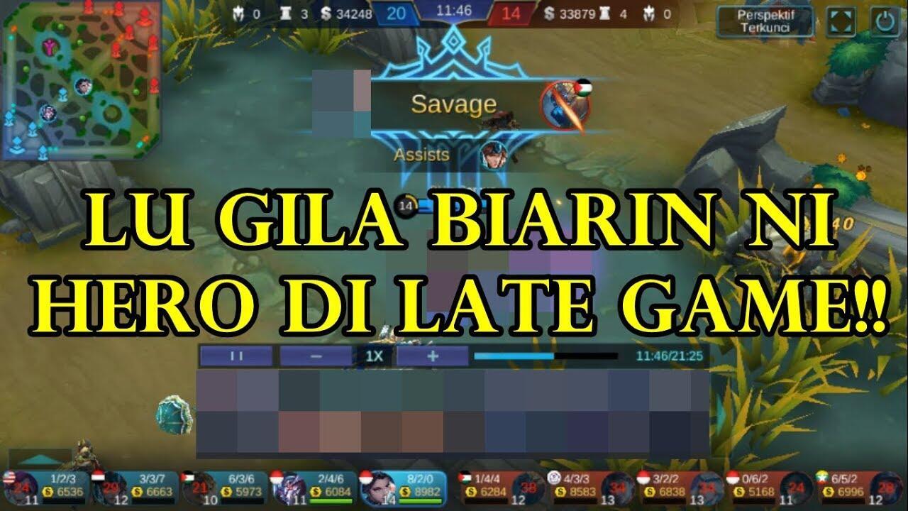 HERO INI GAK BISA DIBIARIN JADI DI LATE GAME - MOBILE LEGENDS INDONESIA