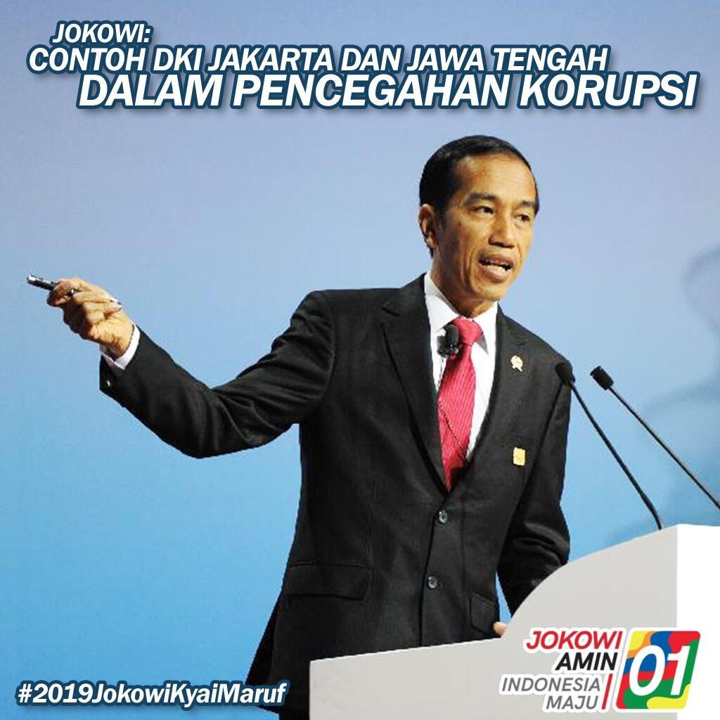 Jokowi Minta Daerah Lain Contoh DKI dan Jateng soal Pencegahan Korupsi