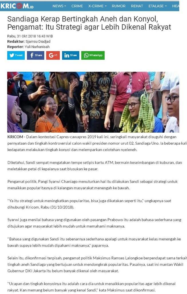 Prabowo Disebut Sengaja Gulirkan Kontroversi