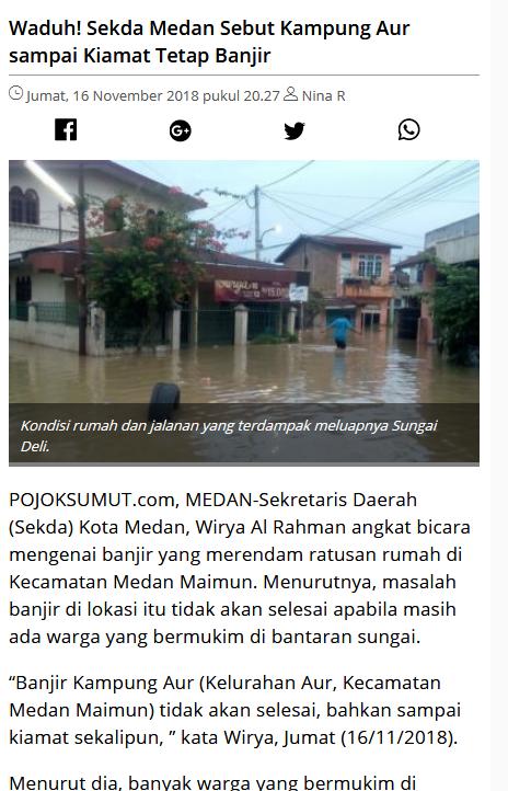 BMKG Kembali Keluarkan Peringatan Dini Cuaca Wilayah Kota Medan
