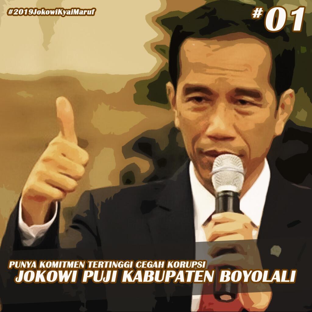 Jokowi Puji Boyolali dalam Pencegahan Korupsi