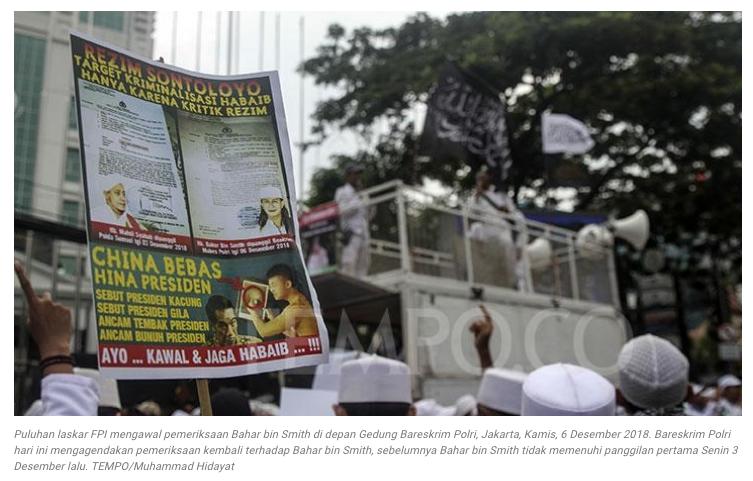 Tiga Alasan Polisi Tidak Tahan Habib Bahar