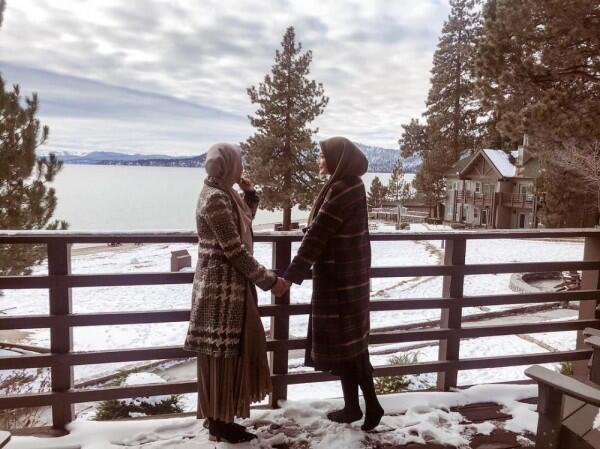 Mewah Abis, 10 Potret Liburan Bella dan Zaskia Sungkar di Amerika