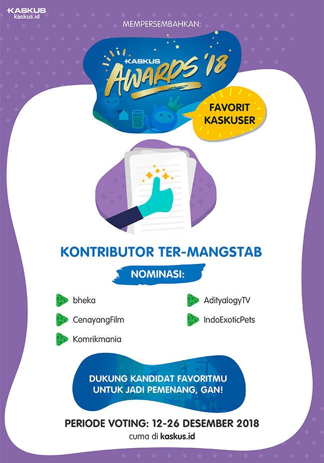 [KASKUS AWARDS 2018] Nominasi Kontributor Ter-Mangstab