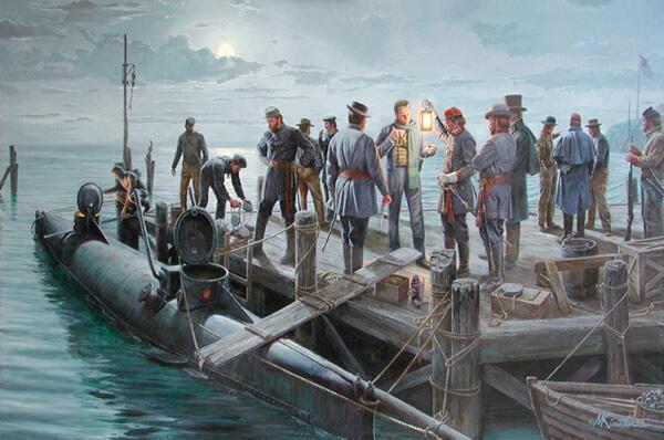 """MISTERI Kapal Selam """"HANTU"""" UB-65 Jerman Dan LL.HUNLEY Yang Menyeramkan!"""