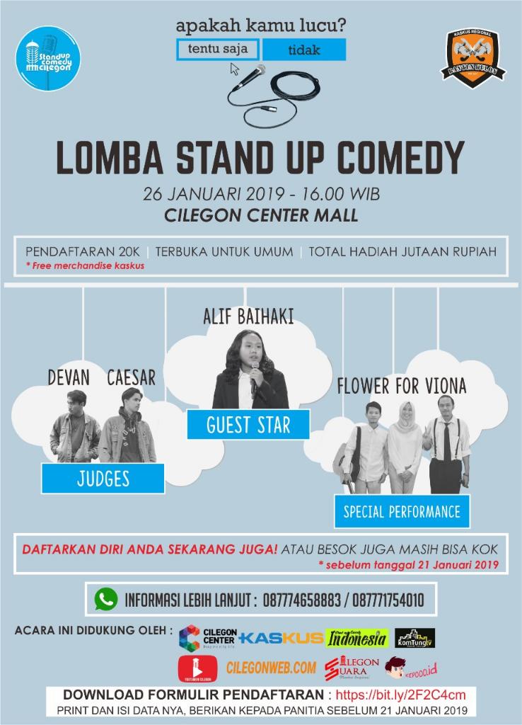 Lomba Stand Up Comedy - Kaskus Banten Kulon