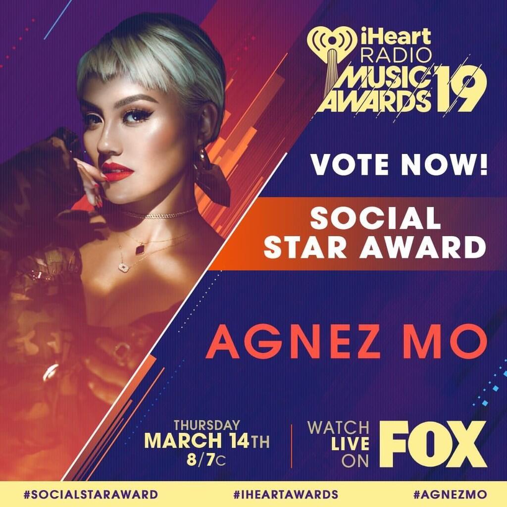 Hanya Agnez Mo Penyanyi Indonesia di Nominasi iHeartRadio Music Awards 2019!
