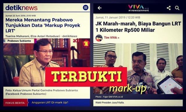 JK Marah-marah, Biaya Bangun LRT 1 Kilometer Rp500 Miliar