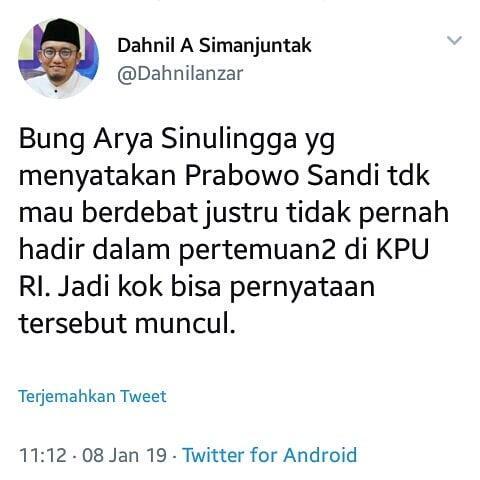 Kubu Prabowo Tantang Jokowi Tak Bawa Contekan Saat Debat Capres