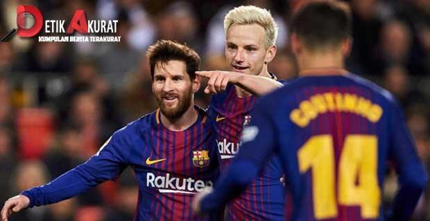 Kalahkan Eibar, Barcelona Jadi Juara Paruh Musim