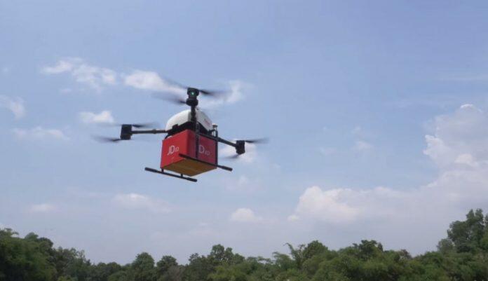 JD.com Sukses Uji Coba Kirim Paket Bogor-Bandung Pakai Drone