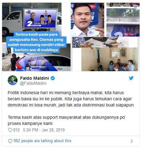 Saling Balas Cuitan Faldo vs Addie MS Gara-gara 'Editan Poster Mobil'