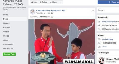CEK FAKTA: Jokowi Tanya Apa Cita-citanya, Siswa SD Ini Mau Prabowo Menang