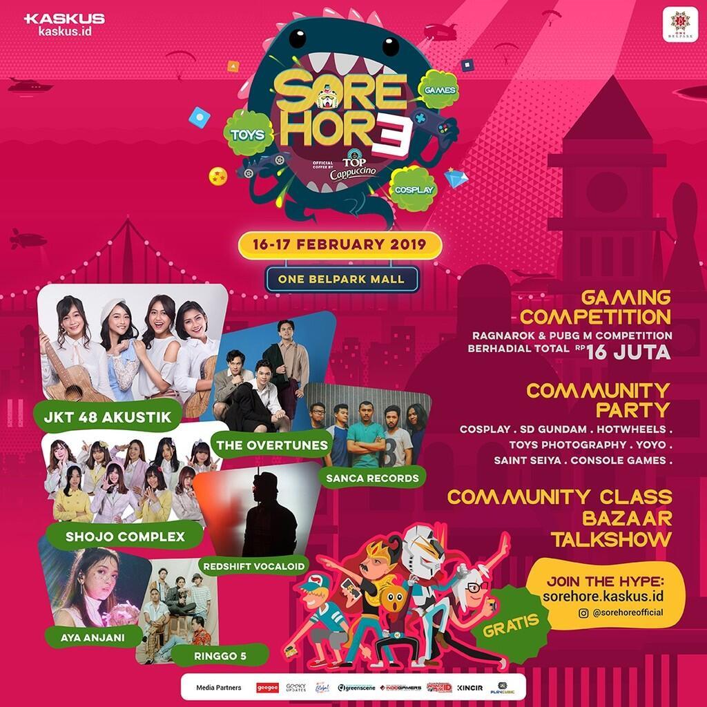 Waktunya Pecinta Toys & Games Seru-Seruan Bareng di Sore Hore Vol.3