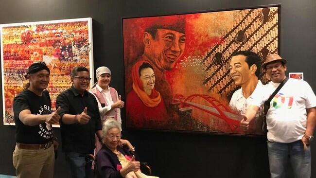 Saat Pendukung Jokowi Beli Lukisan Seharga Rp 2 Miliar