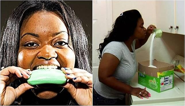 Perempuan ini Makan Sabun Kayak Makan Es Krim, Mau Viral Kok Sampai Segitunya ya?