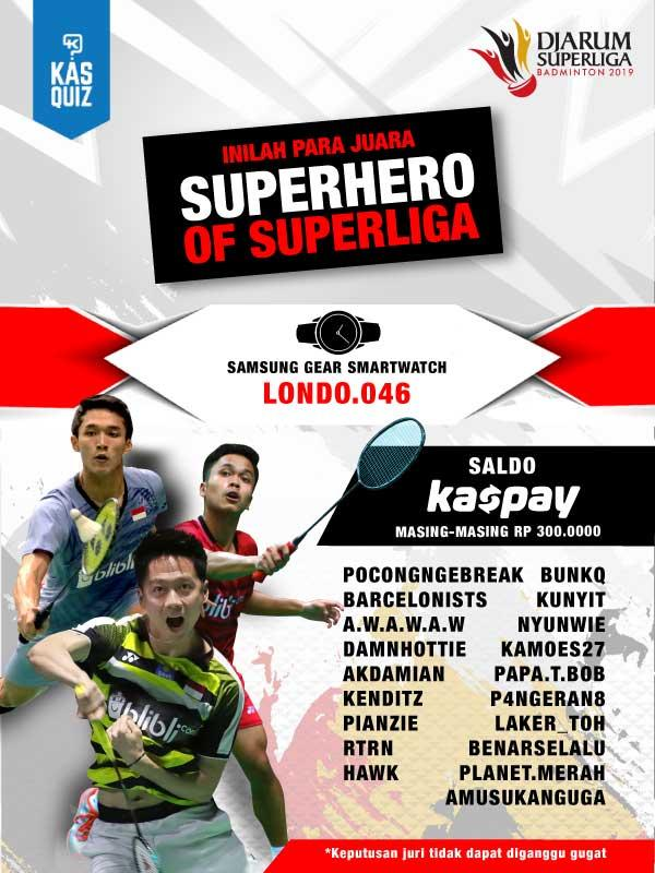 Share Atlet Djarum Superliga Idolamu di Sini dan Rebut HadiahTotal Jutaan Rupiah!