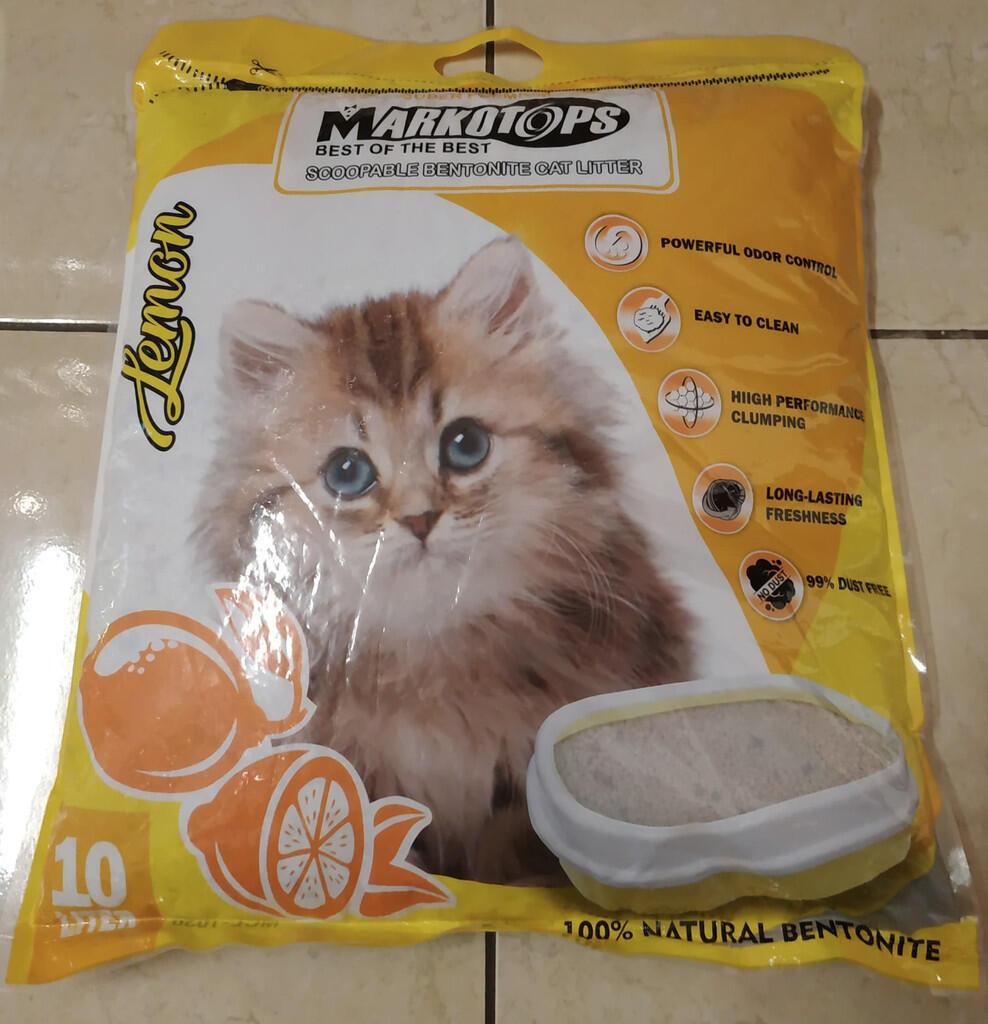 Review Markotops Cat Litter - Pasir Gumpal Kucing