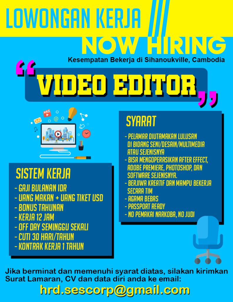 Lowongan Kerja Video Editor